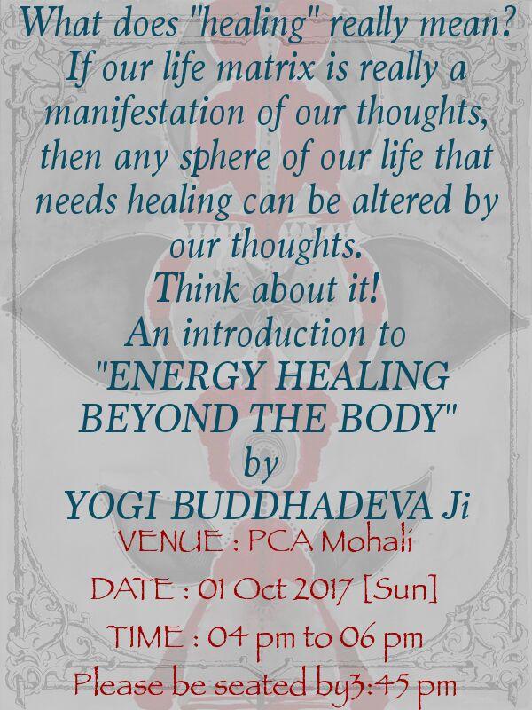 Invitation Energy Healing Back